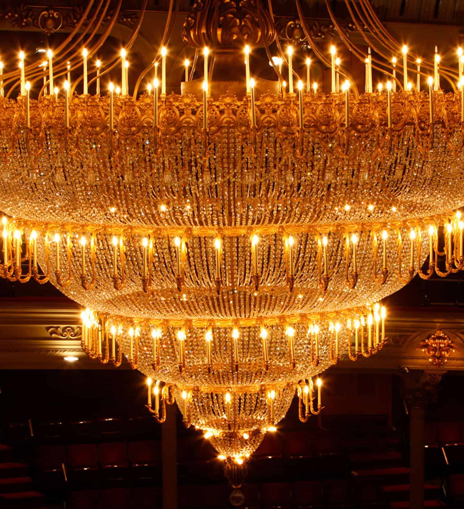 The Chandelier at the Academy of Music, Philadelphia PA